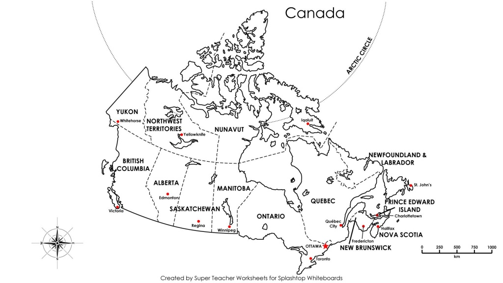 Free Printable Map Canada Provinces Capitals - Google Search - Printable Blank Map Of Canada With Provinces And Capitals