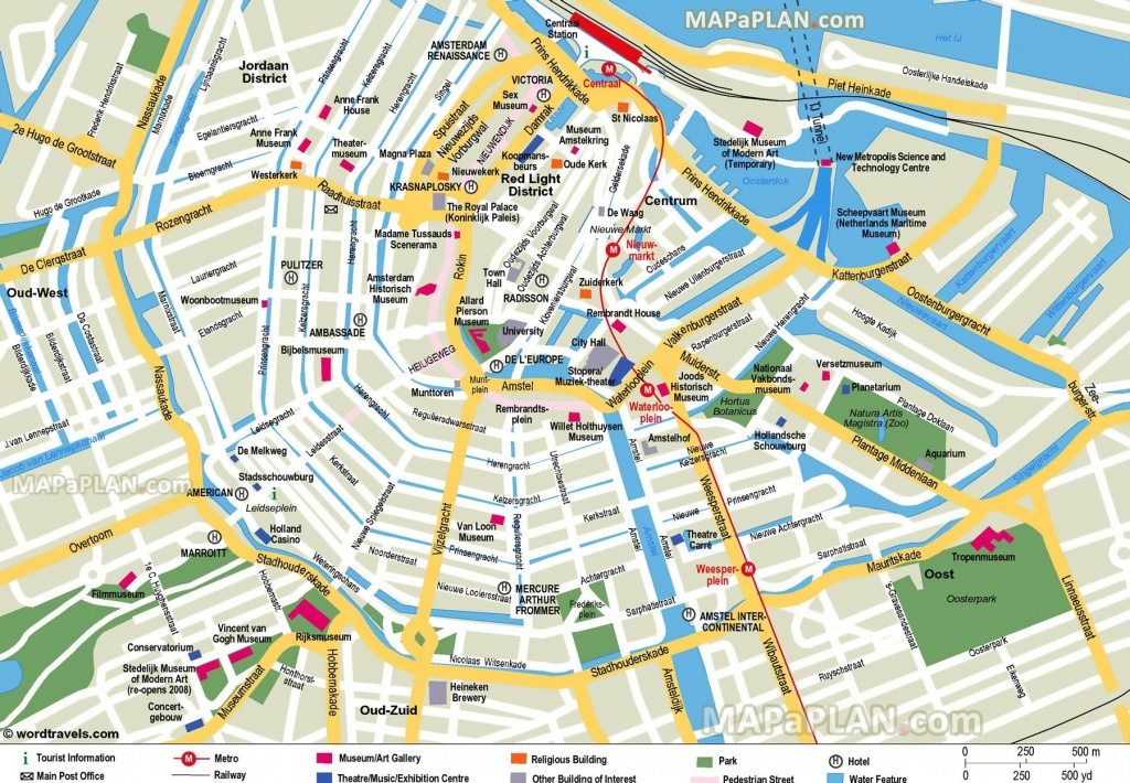 Free Printable Map Of Amsterdam - Google Search | Earth/environment - Tourist Map Of Amsterdam Printable