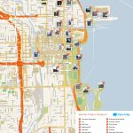 Free Printable Map Of Chicago Attractions. | Free Tourist Maps   Printable Map Of Downtown Chicago