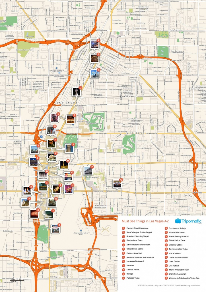 Free Printable Map Of Las Vegas Attractions. | Free Tourist Maps - Printable Map Of Vegas Strip