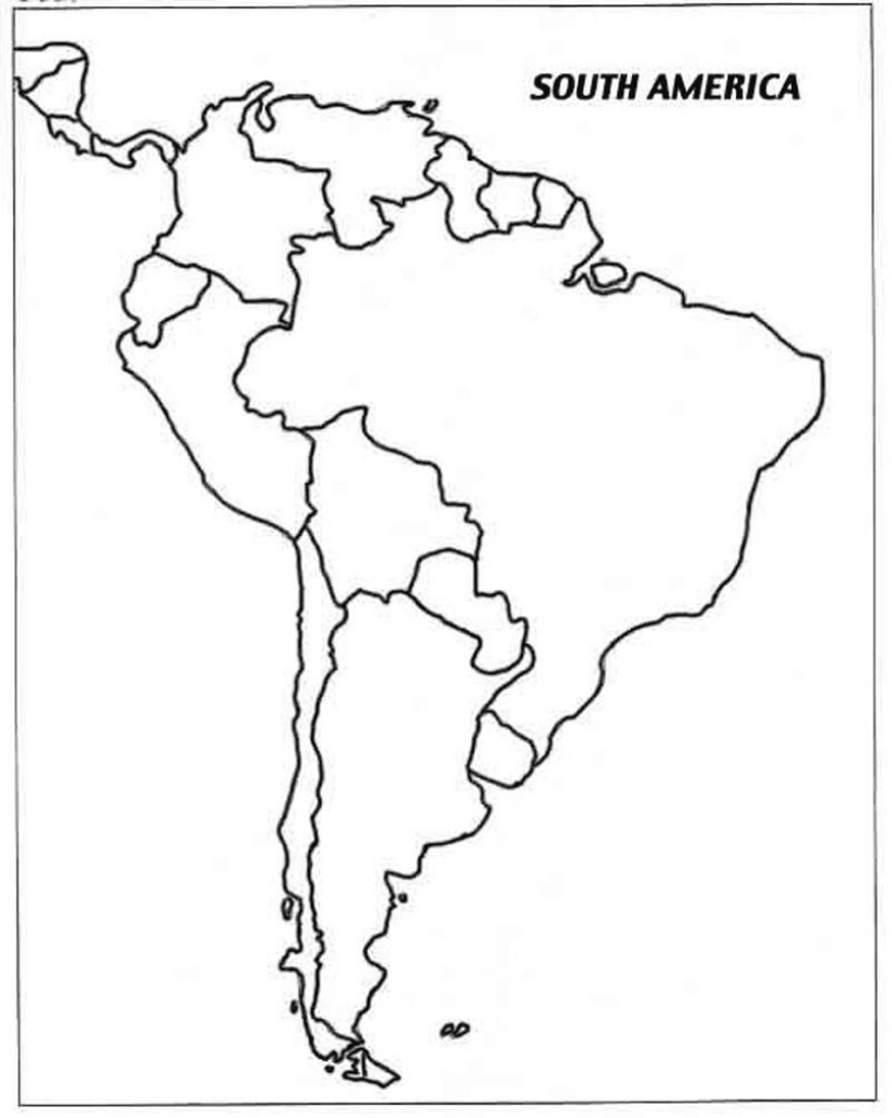 Free Printable Map Of South America And Travel Information - South America Outline Map Printable