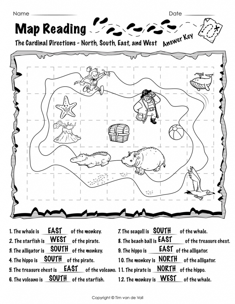 Free Printable Map Reading Worksheets - Tim's Printables - Printable Map Worksheets