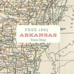 Free Printable Old Map Of Arkansas From 1885. #map #usa | Maps And   Printable Old Maps