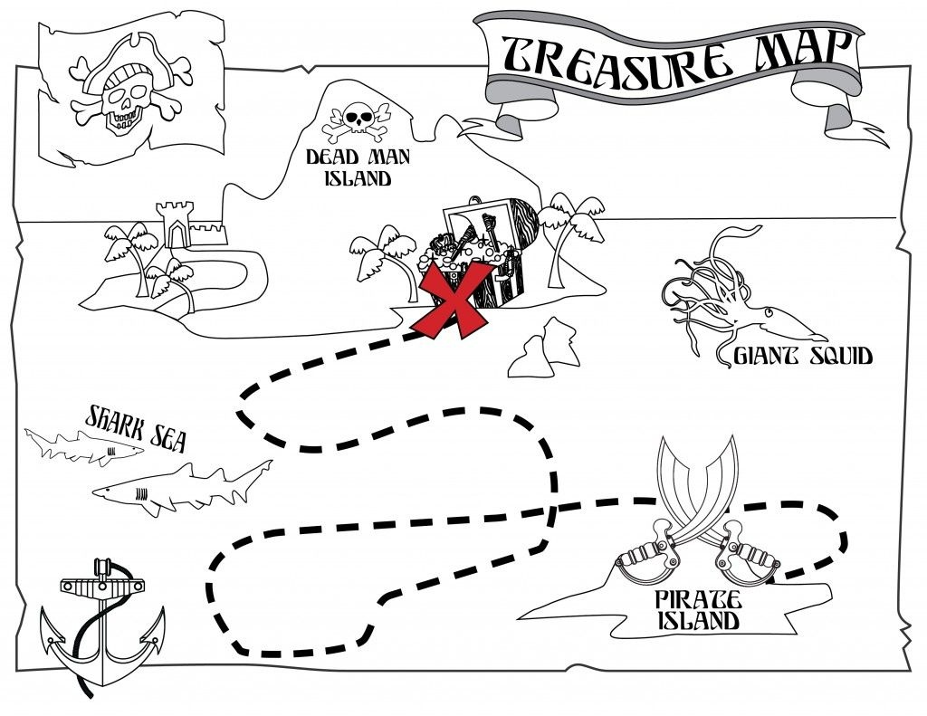 Free Printable Pirate Coloring Pages For Kids | Jake And The Never - Printable Treasure Maps For Kids