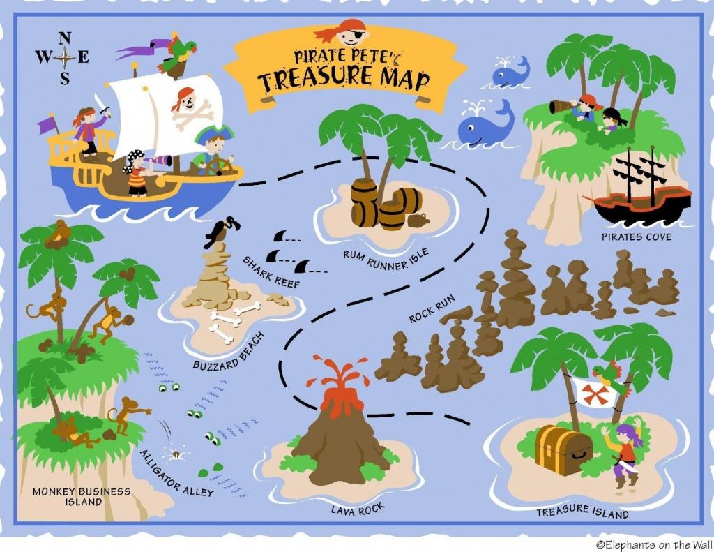 Free Printable Pirate Treasure Map - Google Search | Boy Pirates - Printable Treasure Maps For Kids