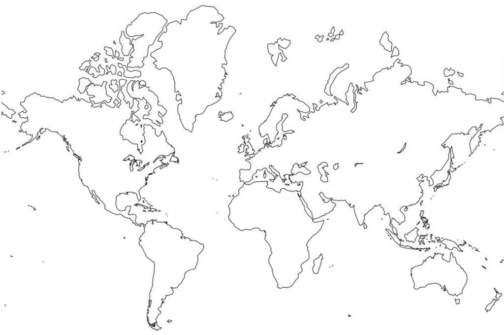 Free Printable World Map Coloring Pages For Kids - Best Coloring - Full Page World Map Printable