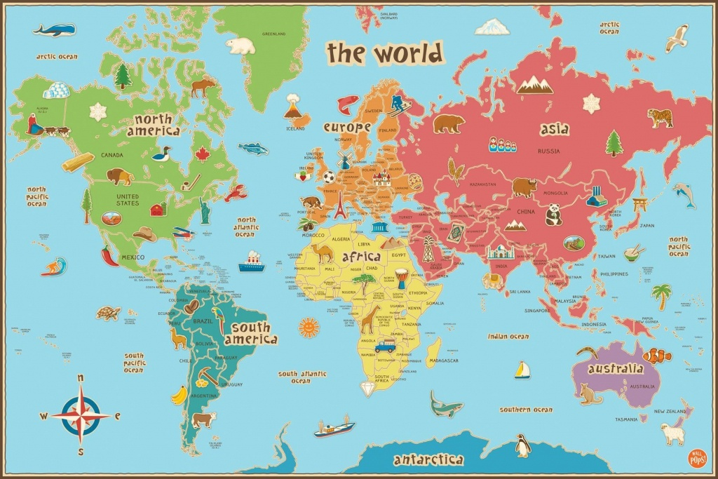 Free Printable World Map For Kids Maps And | Vipkid | Kids World Map - Printable Maps For Kids