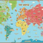 Free Printable World Map For Kids Maps And | Vipkid | Kids World Map   Printable World Map With Countries For Kids