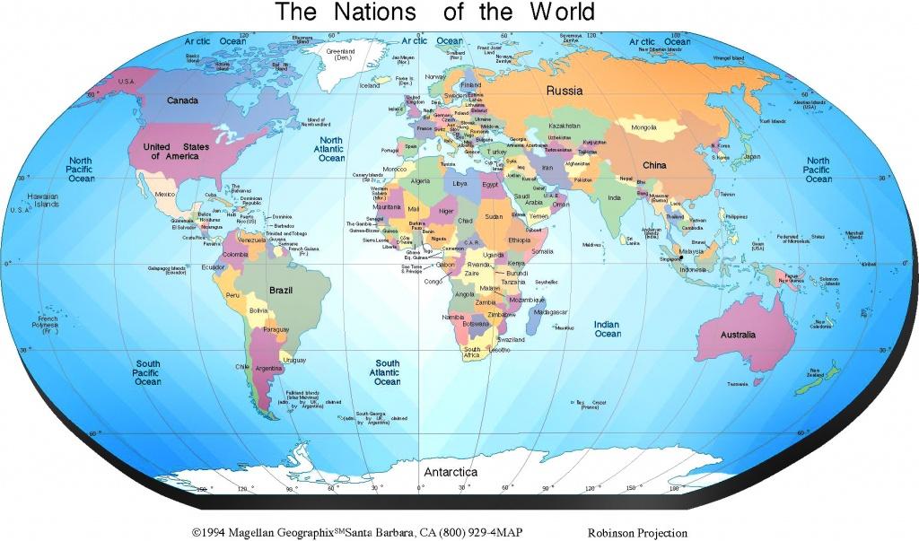 Free Printable World Map | Sksinternational - 8X10 Printable World Map