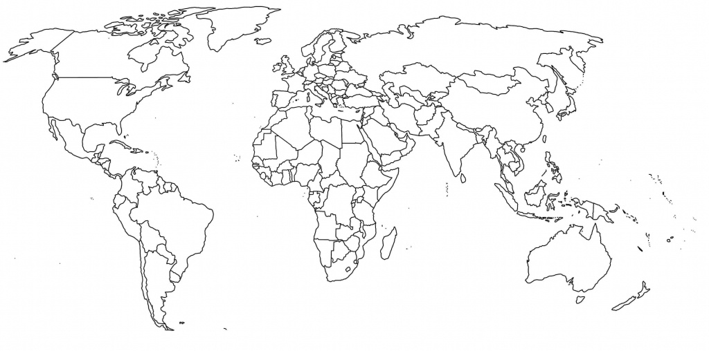 Free Printable World Map With Countries Labeled And Travel - Free Printable Country Maps