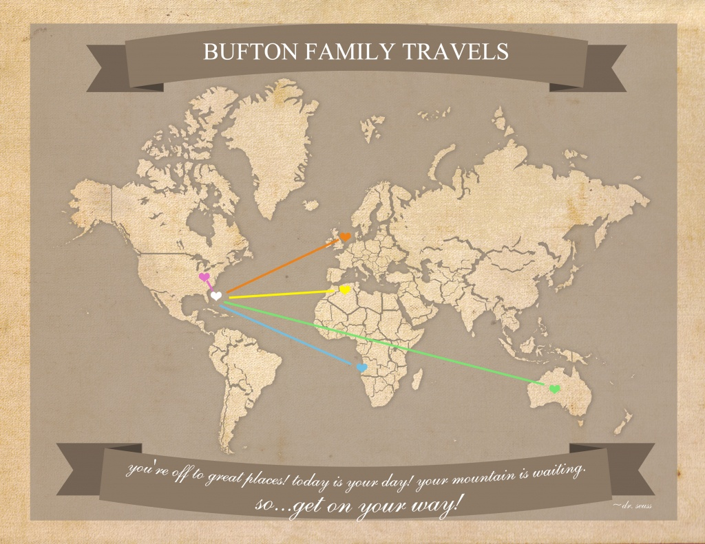 Free Printable World Travel Map - Free Printable Travel Maps