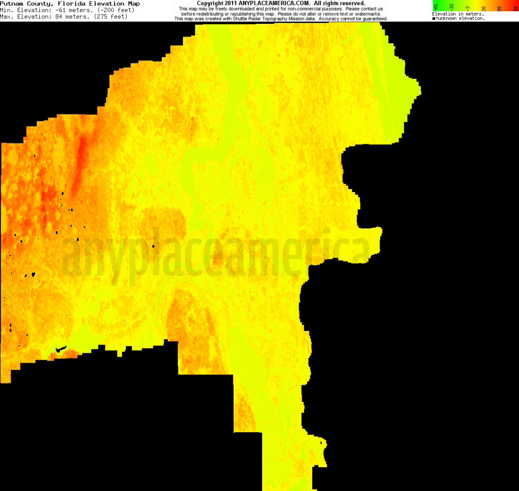 Free Putnam County, Florida Topo Maps & Elevations - Florida Topographic Map Free