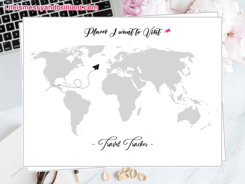 Free Travel Tracker Printable - Printable Travel Maps