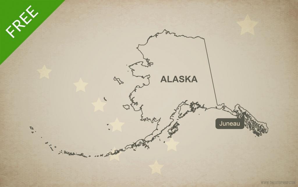 Free Vector Map Of Alaska Outline | One Stop Map - Free Printable Map Of Alaska