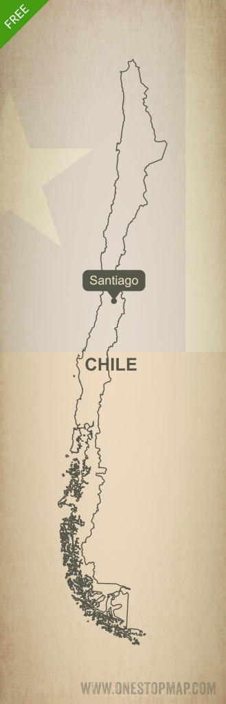 Free Vector Map Of Chile Outline | One Stop Map - Free Printable Map Of Chile