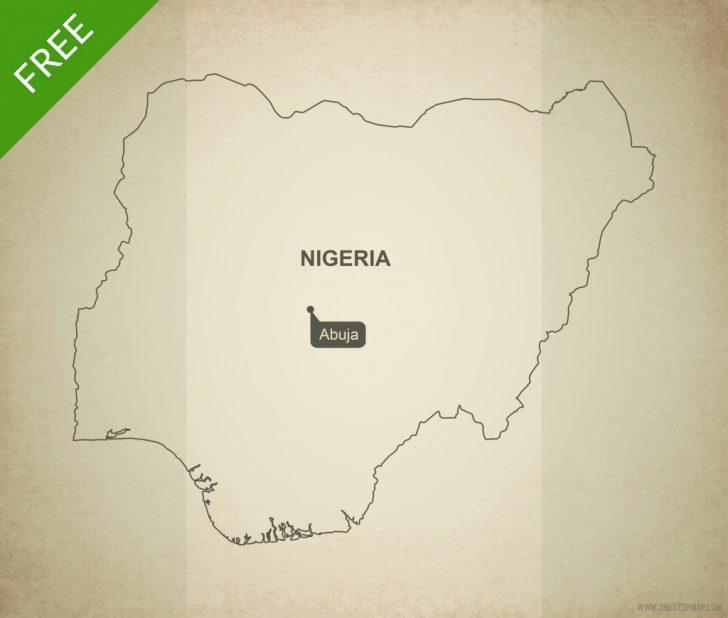Printable Map Of Nigeria