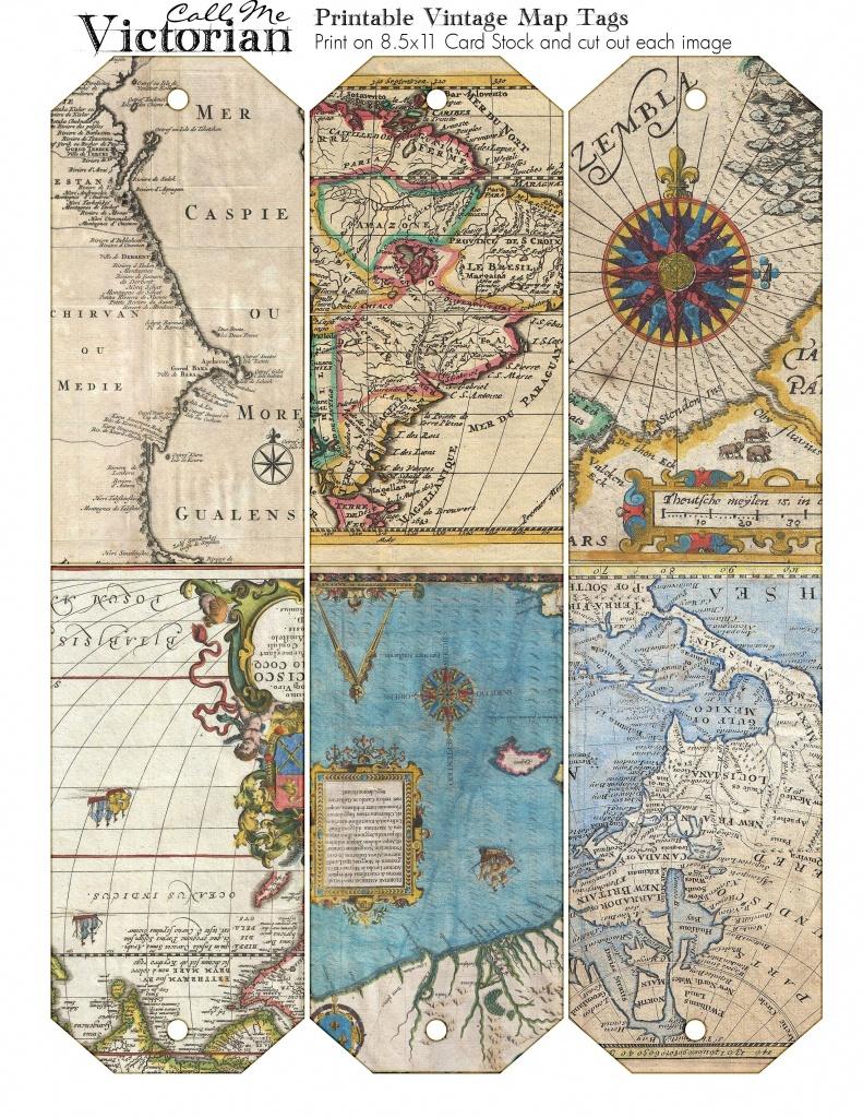 Free Vintage Map Images | Tag Ideas - Free Printable Travel Maps