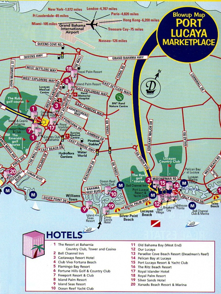 Freeport Tourist Map - Freeport Bahamas • Mappery   Vacation - Map Of Florida And Freeport Bahamas
