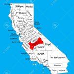 Fresno County (California, United States Of America) Vector Map   Fresno California Map