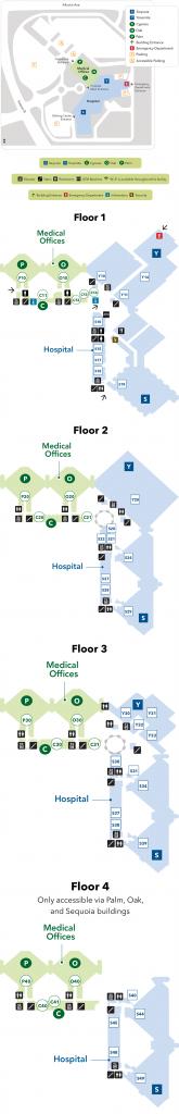Fresno Medical Center - Campus Map - Kaiser Permanente Fresno - Kaiser Permanente Northern California Service Area Map