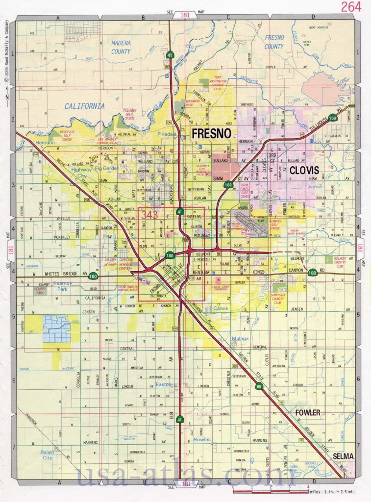 Fresno Street Map. Large-Scale Detailed Streets Map Fresno Sity - California Street Map