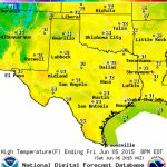 Friday June 5, 2015 | Texas Weather Roundup + Forecast • Texas Storm   Texas Weather Map