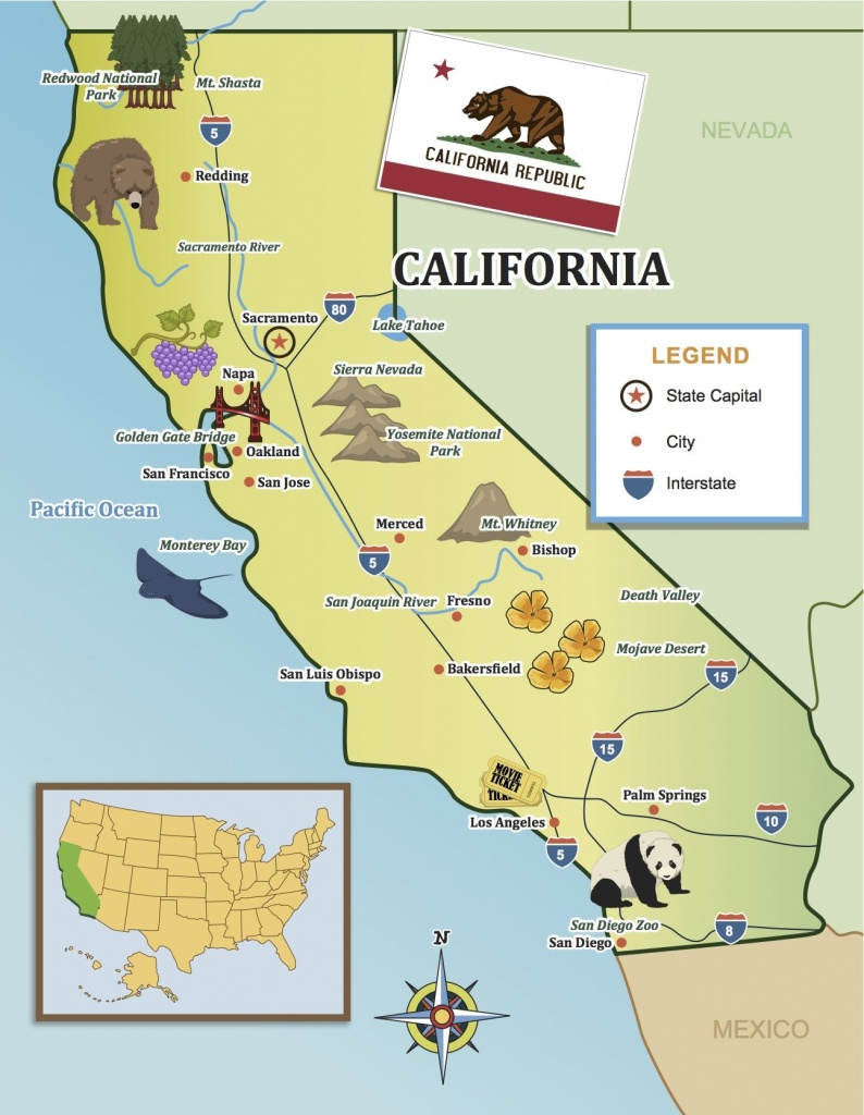 From The Golden Gate To The Beaches Of Socal, Show Your Kids - Show Map Of California