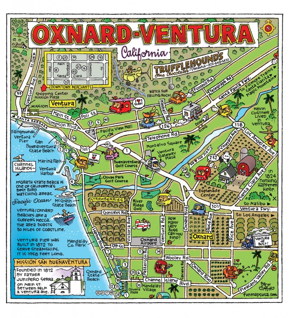 Fun Maps Usa - Oxnard California Map