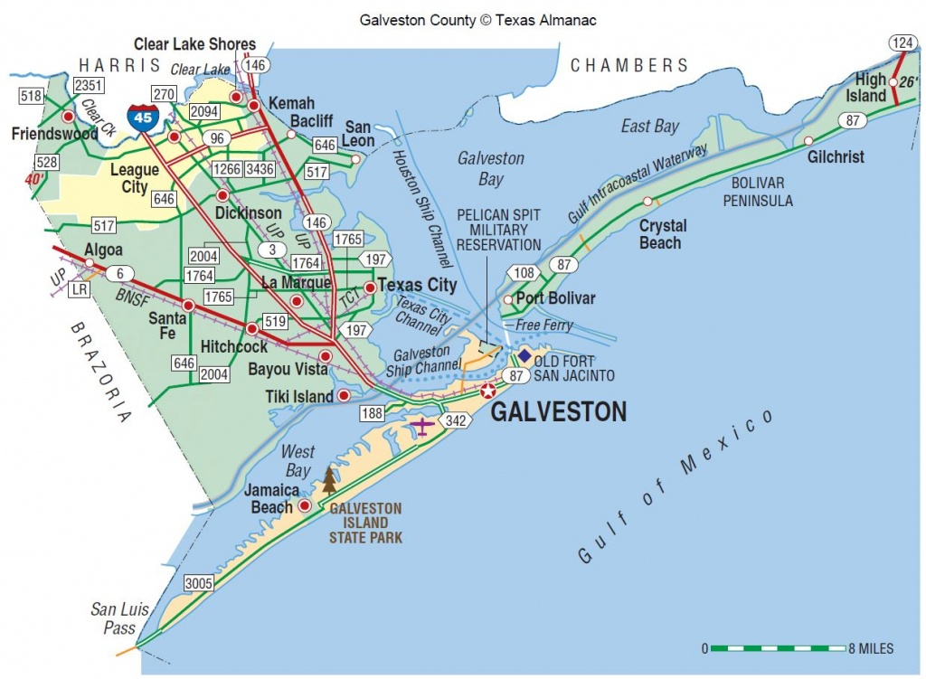 Galveston County | The Handbook Of Texas Online| Texas State - Map Of Hotels In Galveston Texas