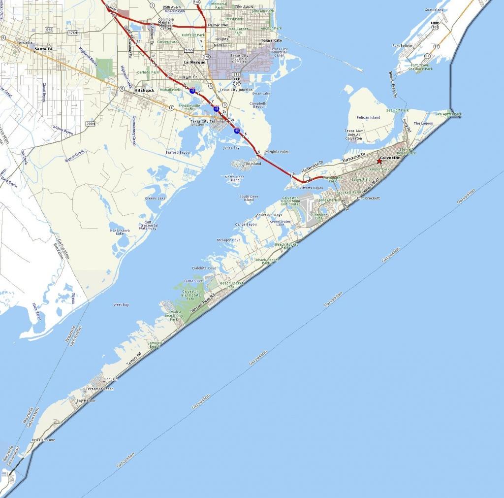 Galveston Island | The Handbook Of Texas Online| Texas State - Map Of Galveston Texas
