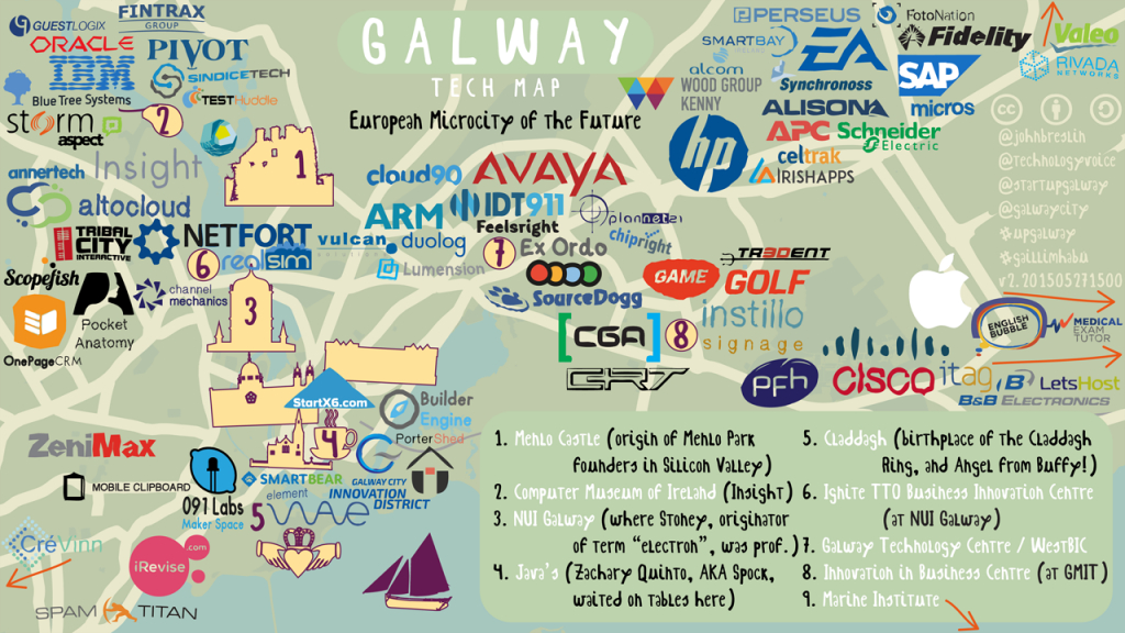 Galway Tech Map: Version 2! | Technology Voice - Galway City Map Printable