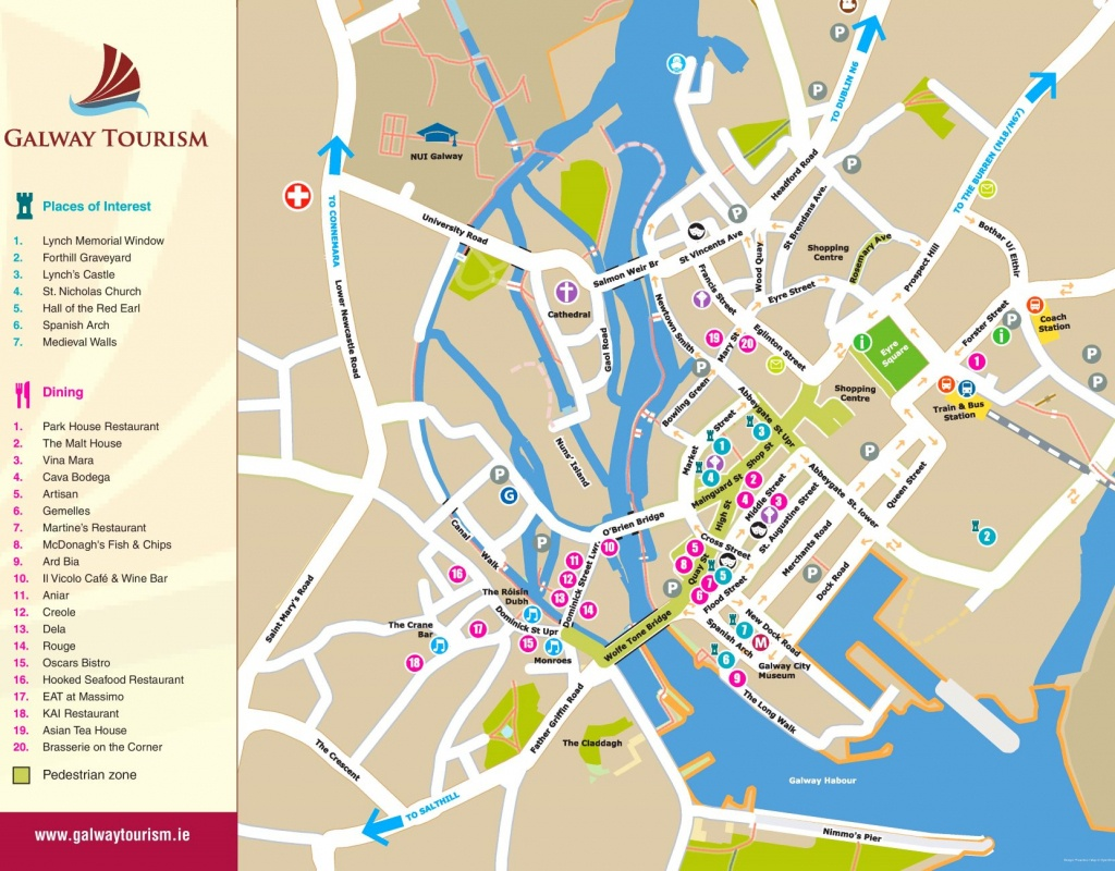 Galway Tourist Map - Galway City Map Printable