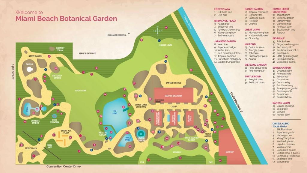 Garden Map | Miami Beach Botanical Garden - Florida Botanical Gardens Map