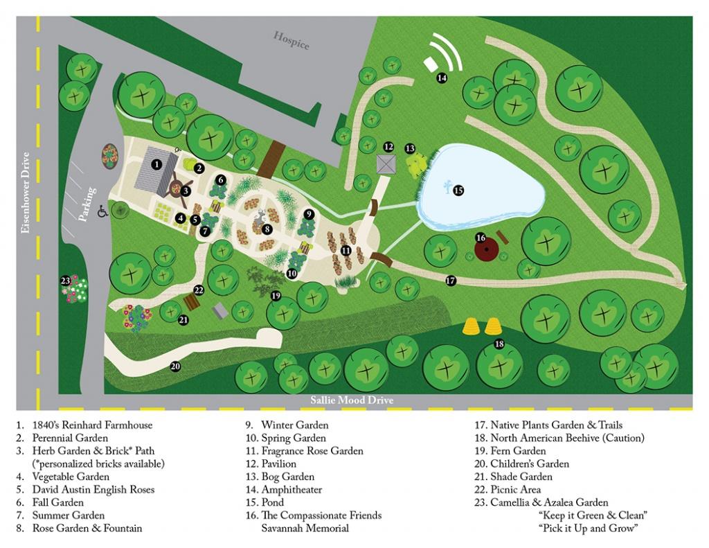 Garden Map Of Savannah Botanical Garden - Savannah Botanical Gardens - Florida Botanical Gardens Map