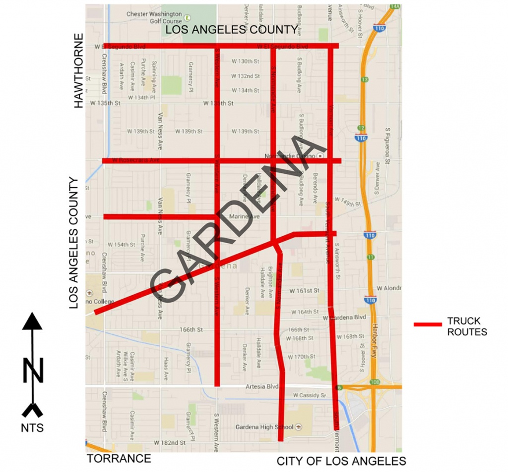 Gardena Police Department Online | » Gmc Truck Routes - California Truck Routes Map