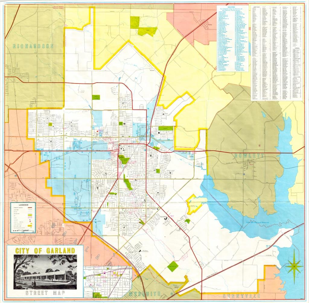 Garland Landmark Society - City Map, Garland Texas 1968-1970 - Garland Texas Map