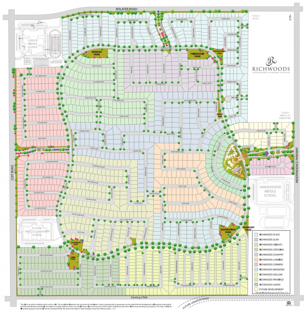 Gated Home Communities In Frisco Tx | Richwoods | Community Map - Frisco Texas Map
