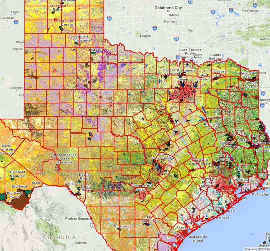 Geographic Information Systems (Gis) - Tpwd - Texas County Map Interactive