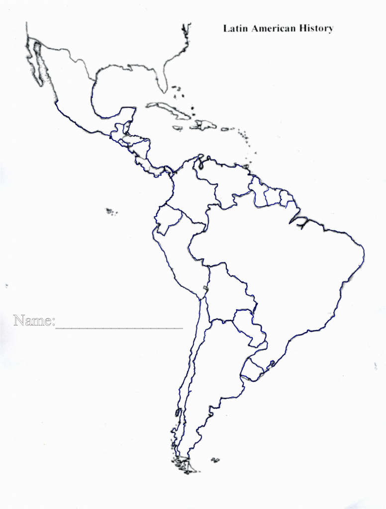 Geographic Map Of Latin America Great Place Blank Map South America - Central America Outline Map Printable