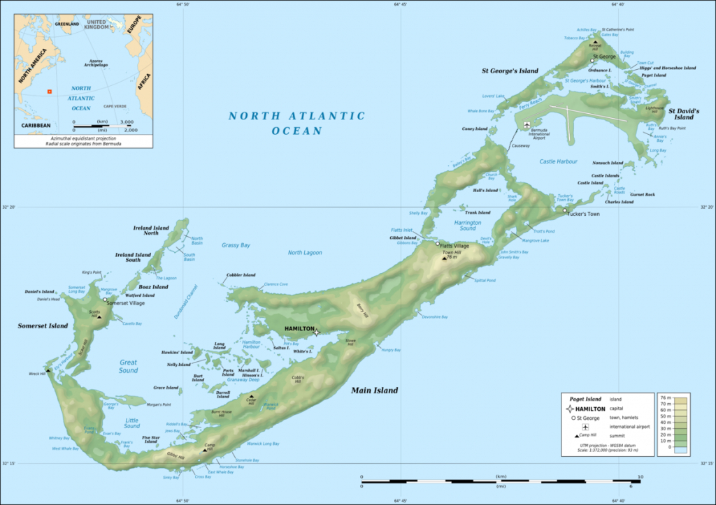 Geography Of Bermuda - Wikipedia - Printable Map Of Bermuda