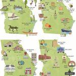 Georgia Illustrated Tour Maps, Usa, Atlanta, Macon, Savannah   Printable Map Of Macon Ga