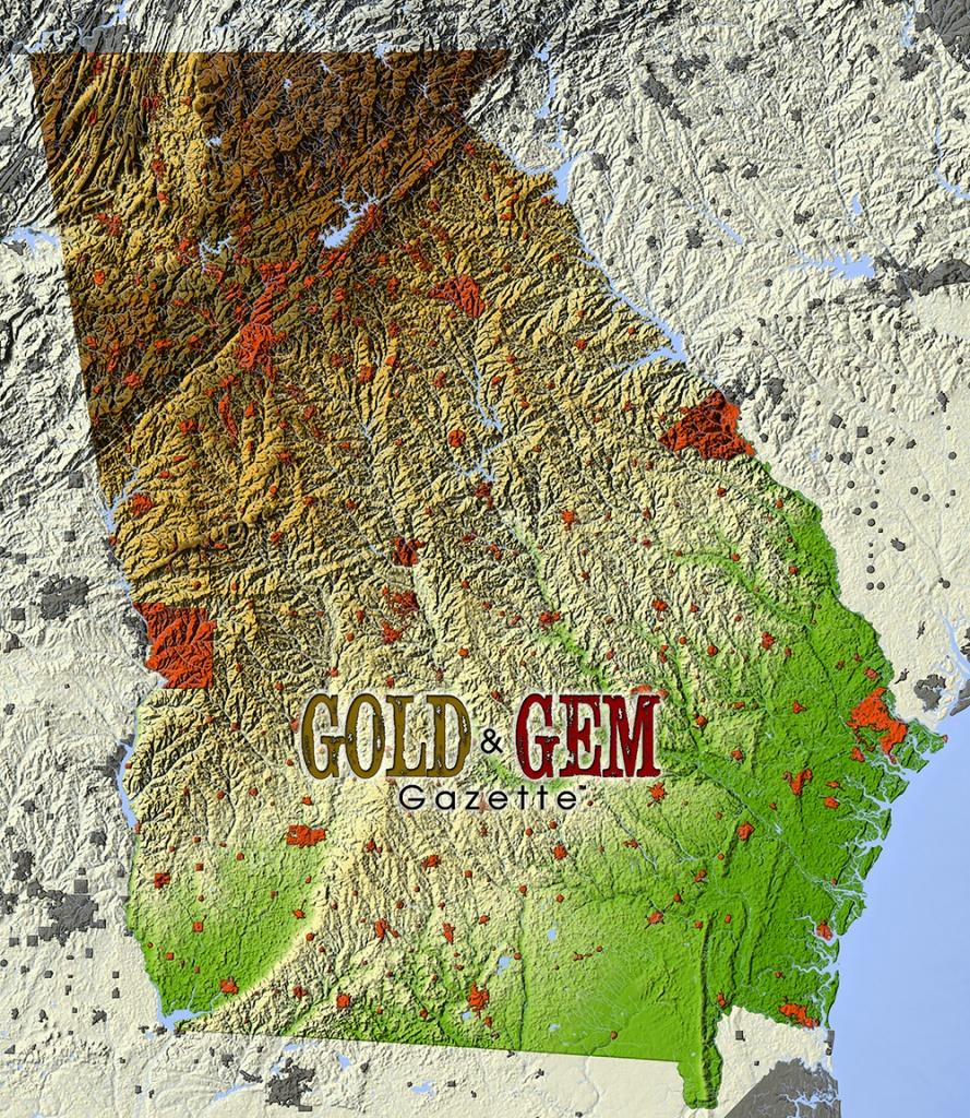 Georgia Prospecting – Gold And Gem Gazette Magazine - Gold Prospecting In Texas Map