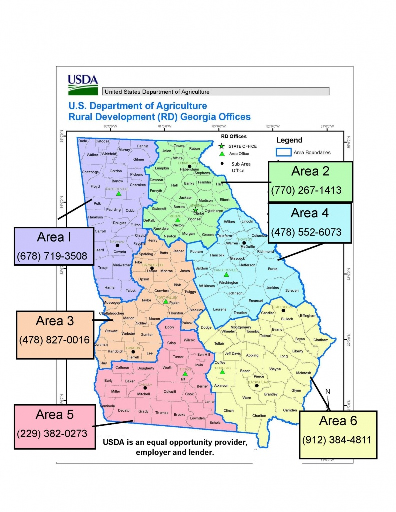 Georgia | Usda Rural Development - Usda Eligibility Map California