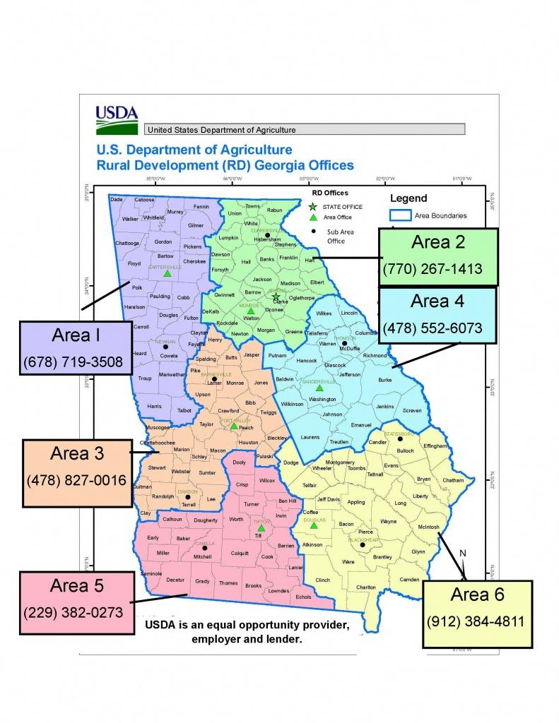Georgia | Usda Rural Development - Usda Eligibility Map For Florida