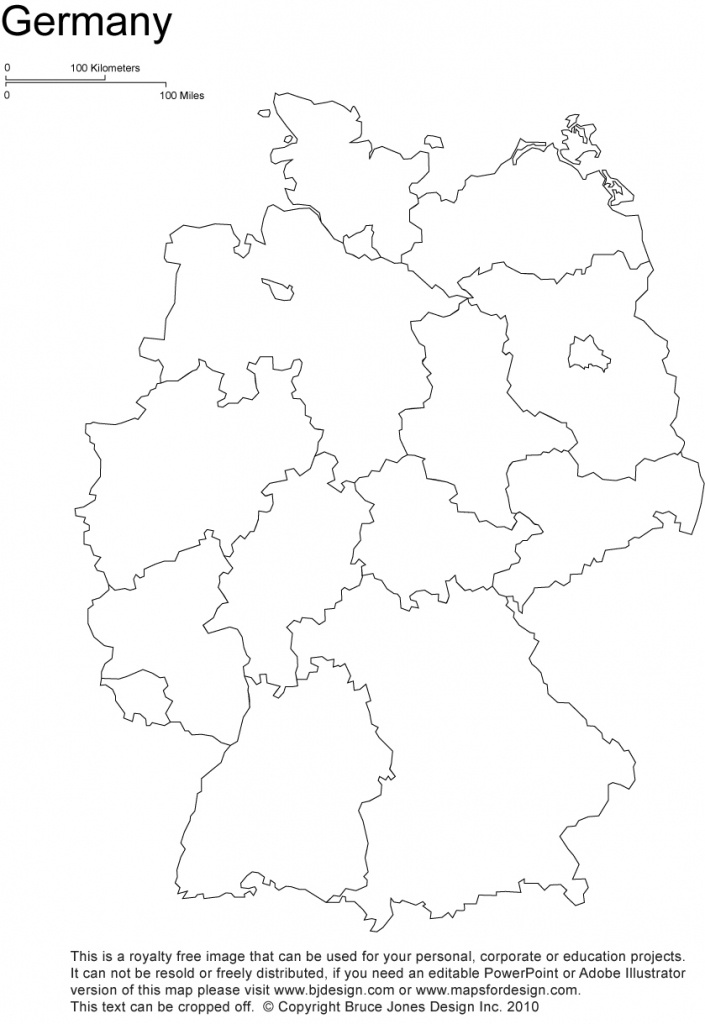 Germany Printable, Blank Maps, Outline Maps • Royalty Free - Printable Map Of Germany