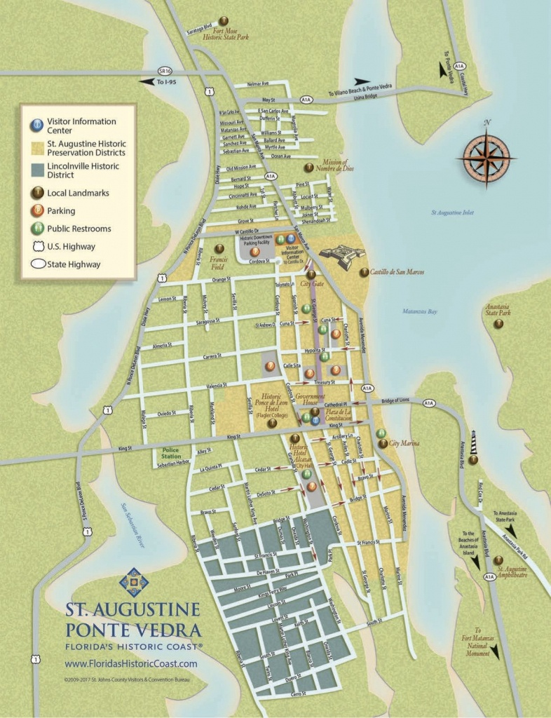 Get To Know Downtown St. Augustine With Our Printable Maps! | St - Where Is St Augustine Florida On The Map