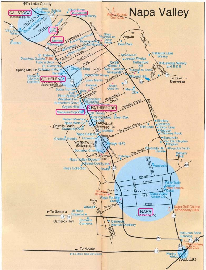 Getaway From It All: Napa Valley | Napalicious's Blog | Napa Valley - Sonoma Wineries Map Printable