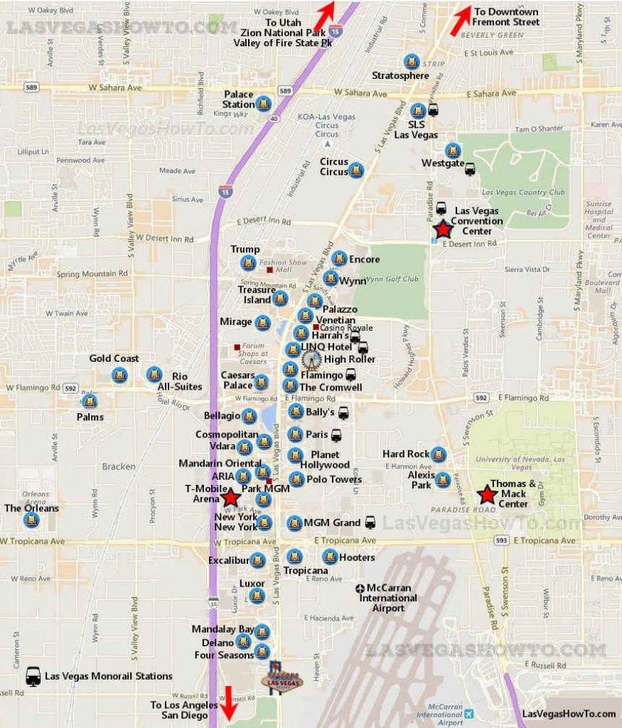 Getting Around Las Vegas In 2019 | Vegas | Las Vegas Strip Map - Printable Map Of Las Vegas Strip 2018
