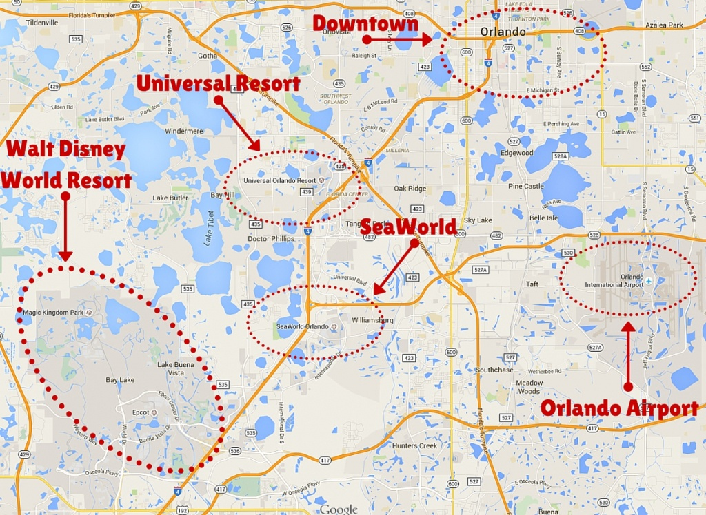Getting Around The Orlando Theme Parks - The Trusted Traveller - Orlando Florida Attractions Map