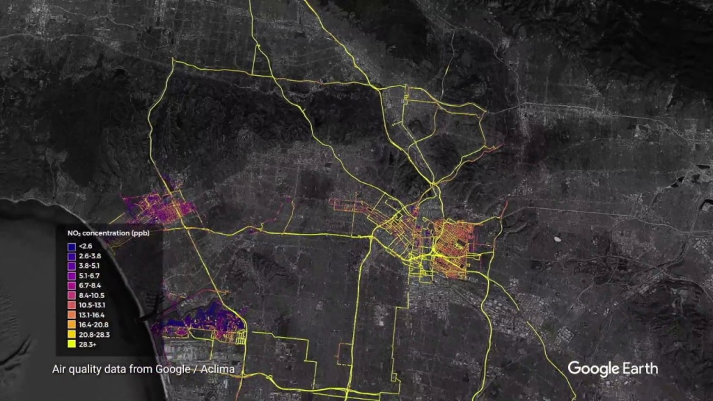 Getting Hyper-Local: Mapping Street-Level Air Quality Across California - Southern California Air Quality Map